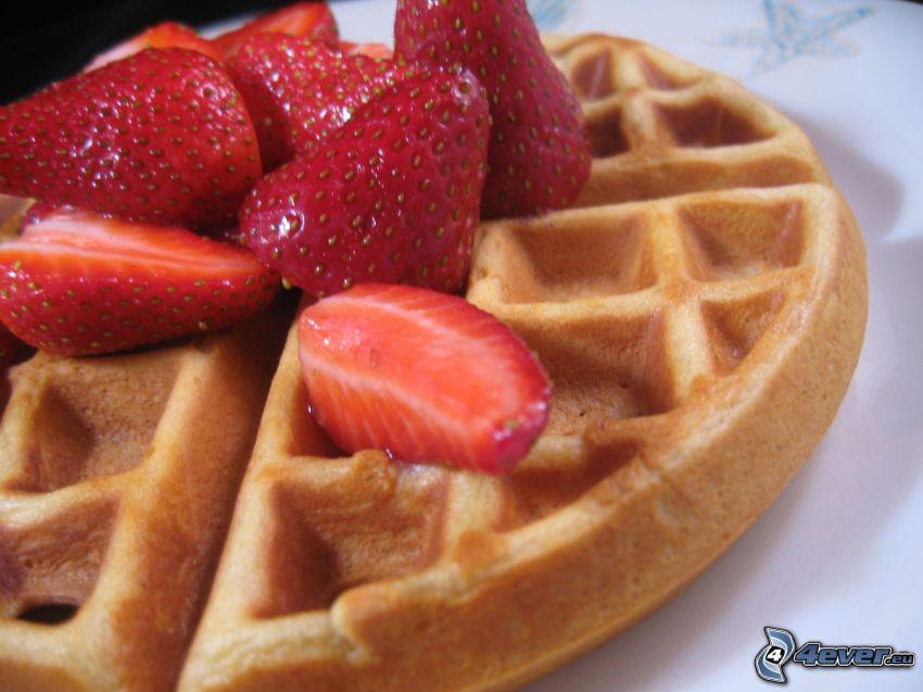 wafle, jahody