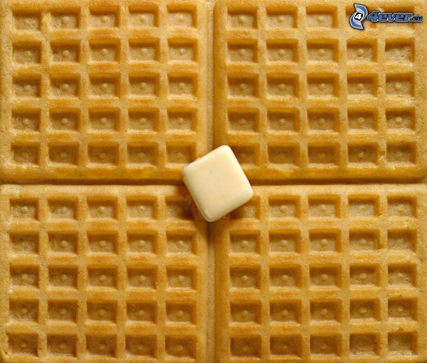 wafle, maslo
