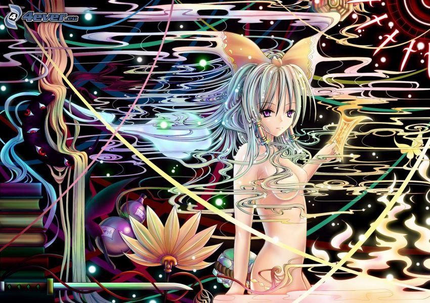 anime dievča