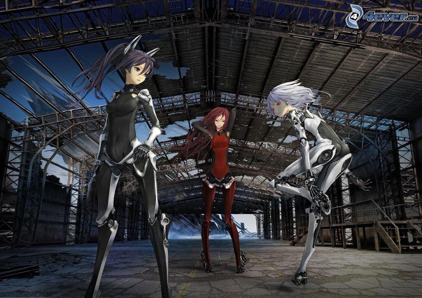 anime dievčatá