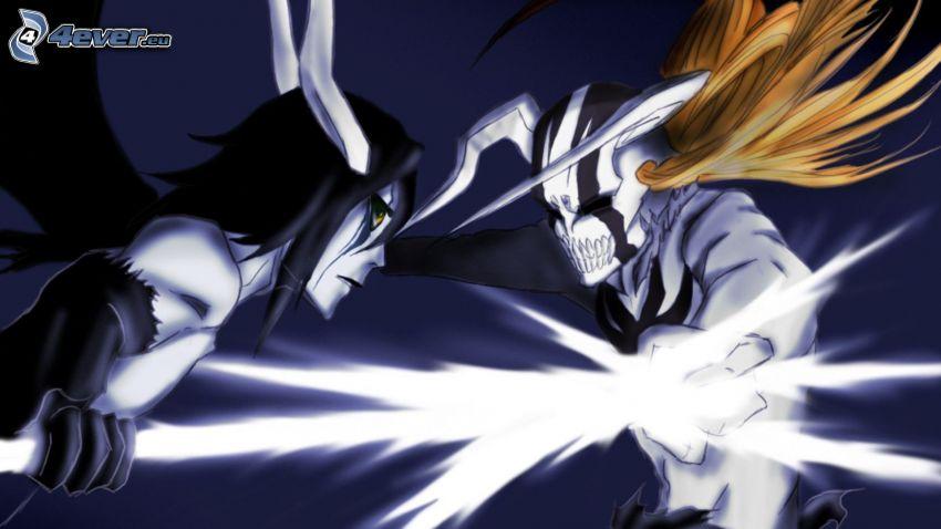 anime postavičky, súboj