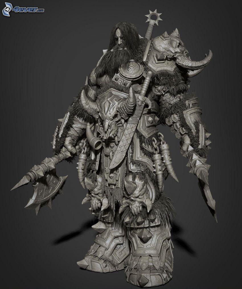 fantasy bojovník, brnenie