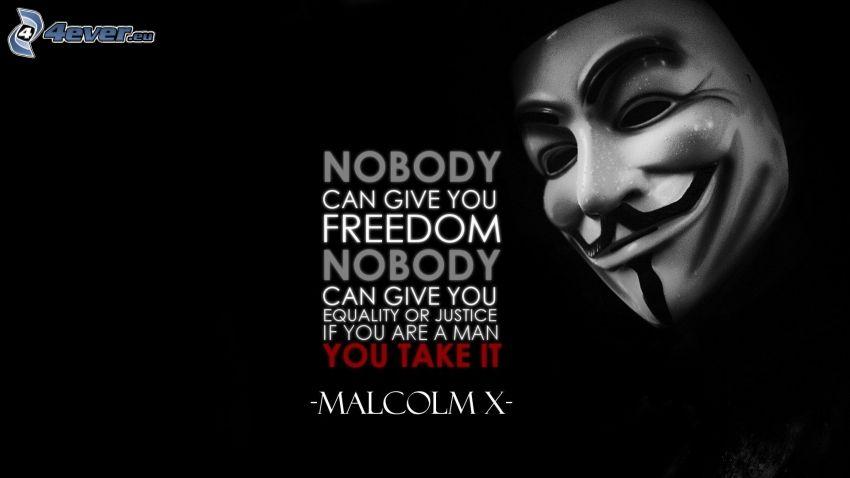 Anonymous, text, sloboda