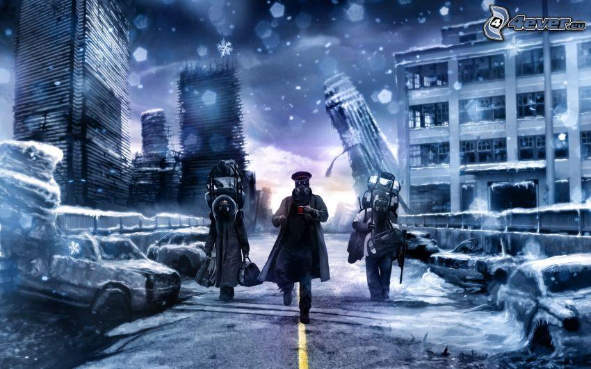 apokalypsa, postapokalyptické mesto