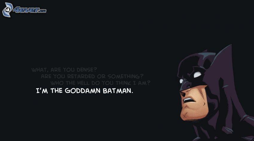 Batman, text