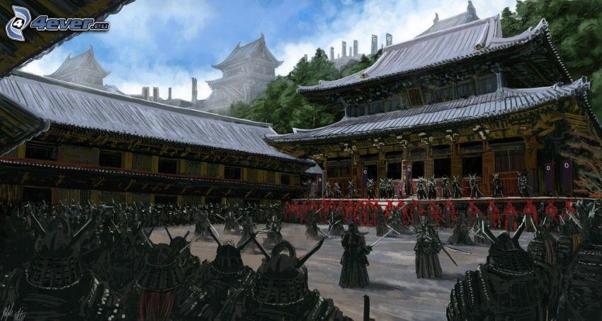 bojovníci, japonský dom