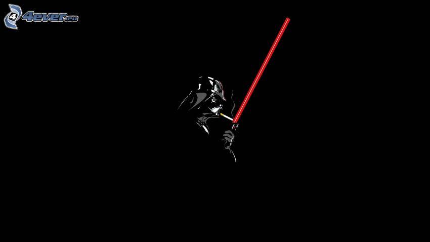 Darth Vader, cigareta, svetelný meč