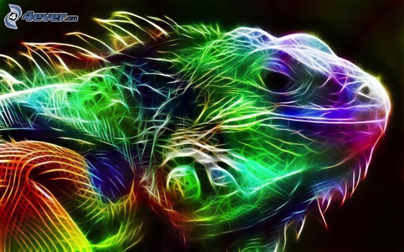 fraktálová jašterica