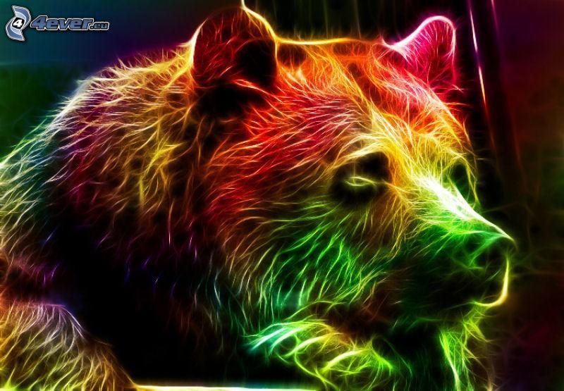 fraktálový medveď