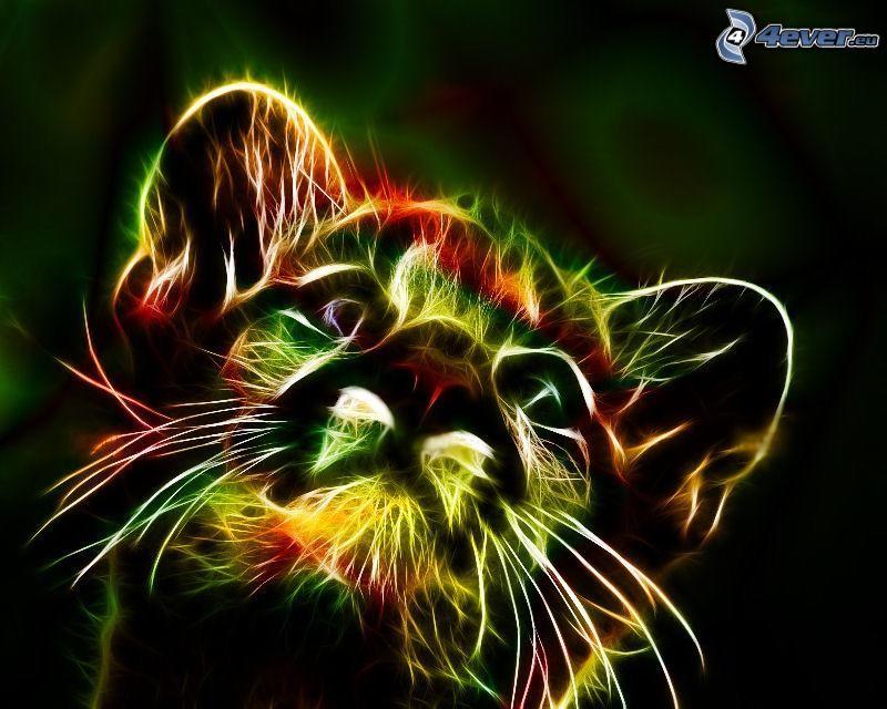 fraktálový tiger, mláďa