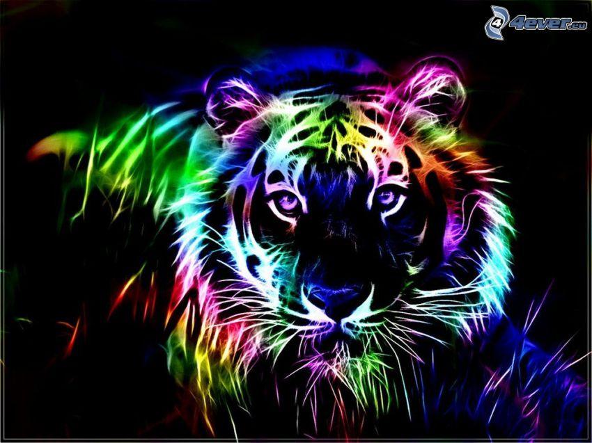 fraktálový tiger
