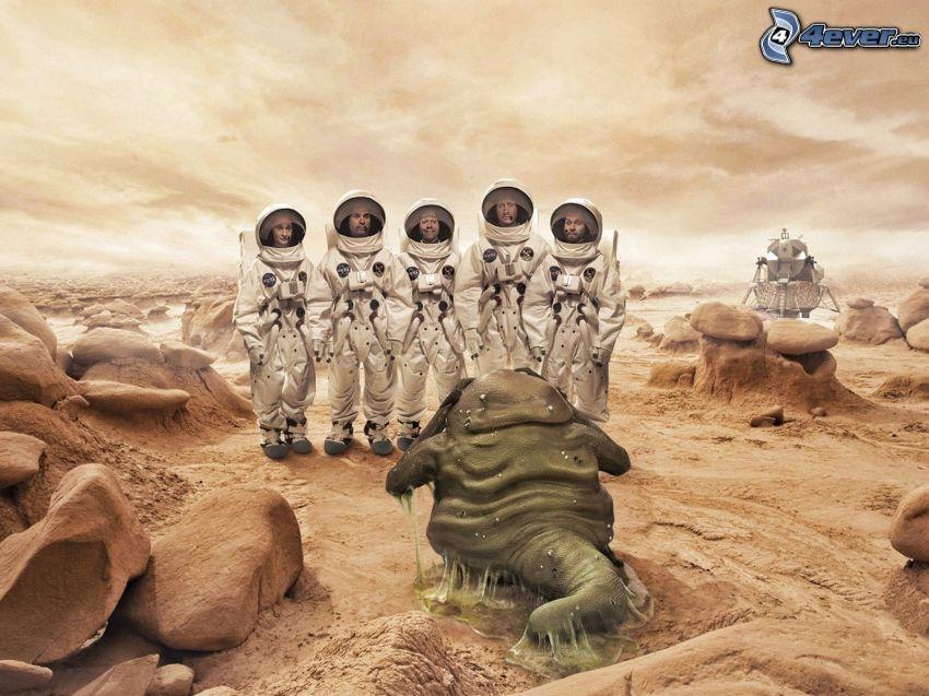 kozmonauti, mimozemšťan
