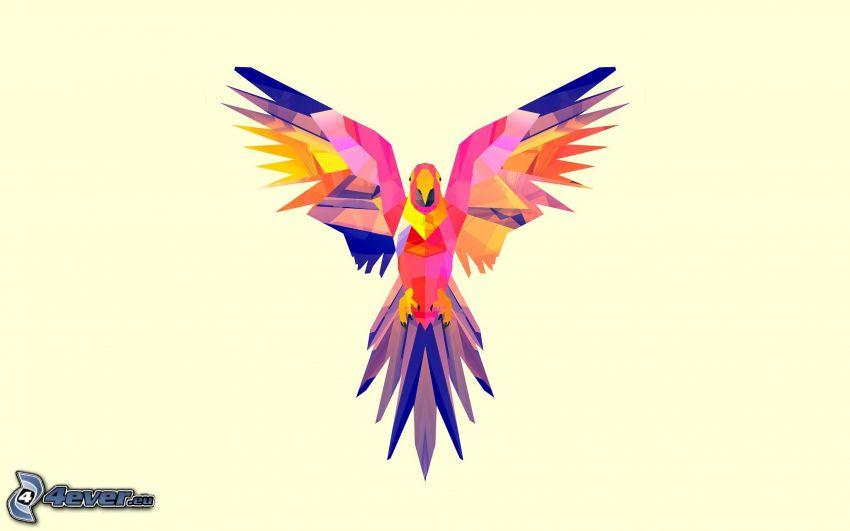 kreslený vtáčik