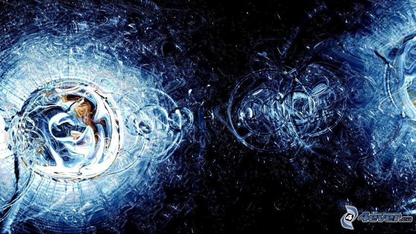 kvapky vody, kruhy