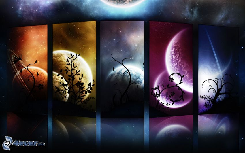 mesiac, planéty
