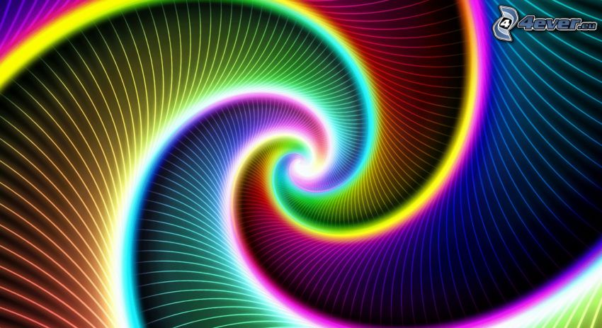 špirála, farby