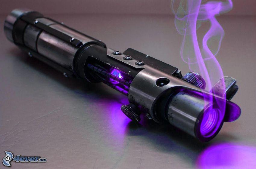 zbraň, dym