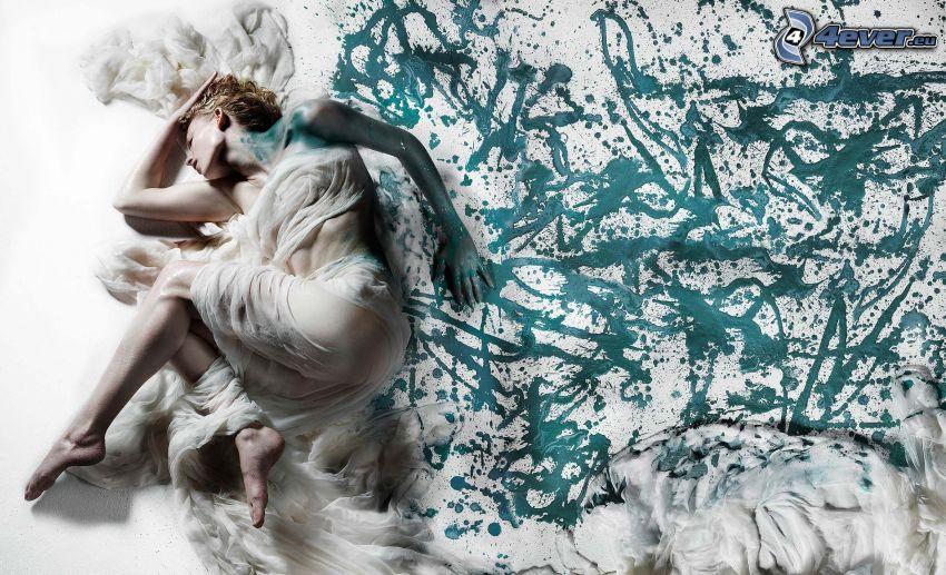 žena, abstrakt