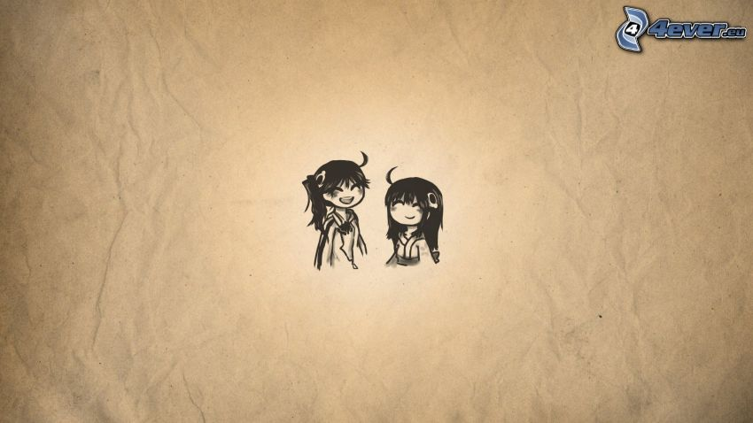 kreslené dievča
