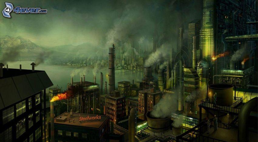 kreslené mesto