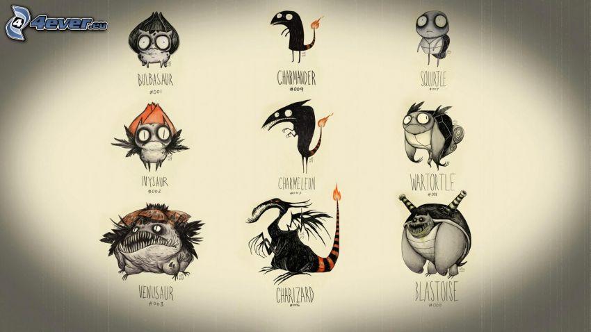 kreslené postavičky