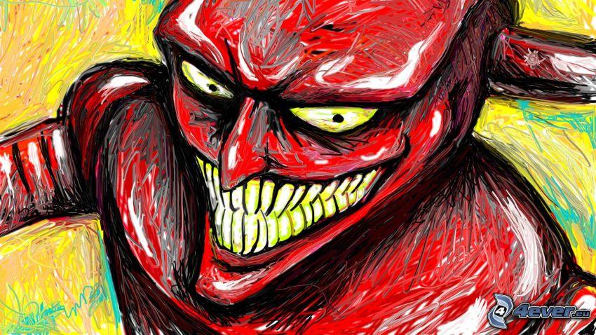 kreslený démon