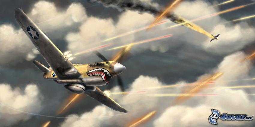 lietadlá, mraky
