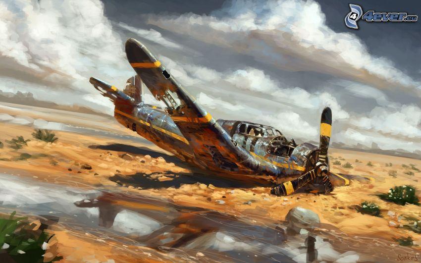 lietadlo, havária