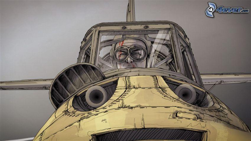 lietadlo, pilot