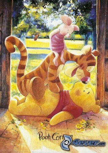 macko Pú, tiger, rozprávka