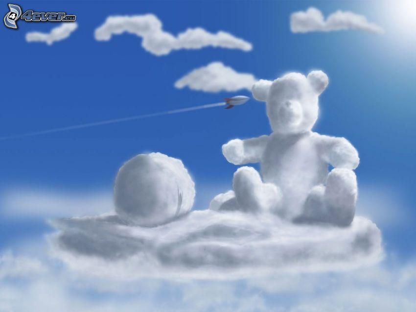 medveď, oblaky