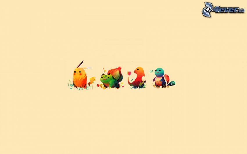 Pokémon, kreslené postavičky