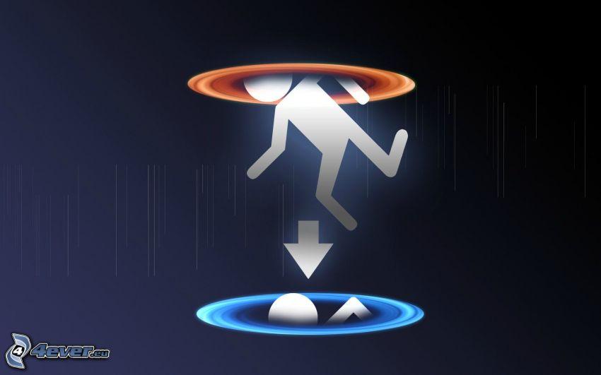 Portal 2, panáčik, šípka
