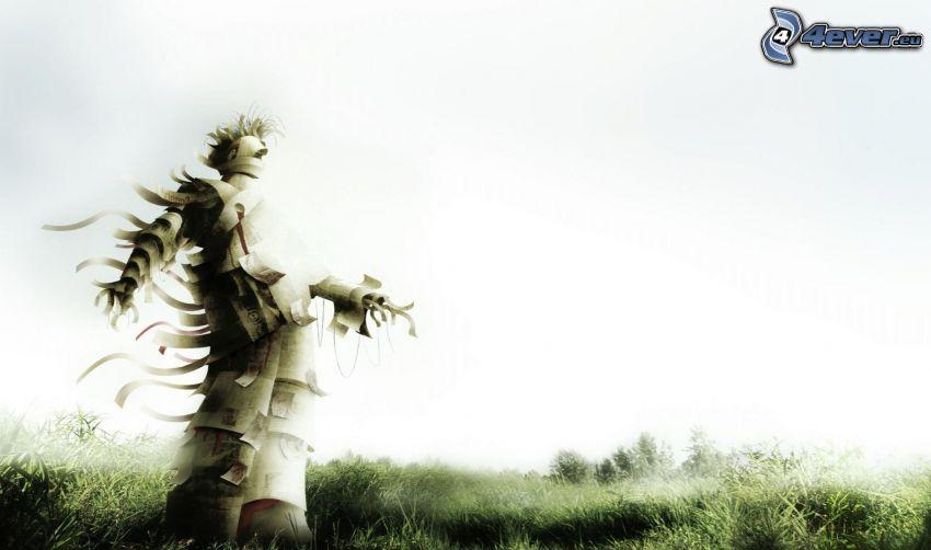 postava, tráva