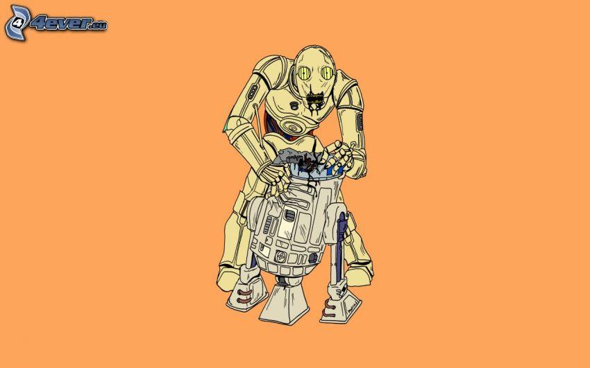 robot, R2 D2, oprava