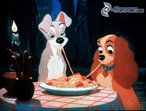 rozprávka, špagety, sviečka