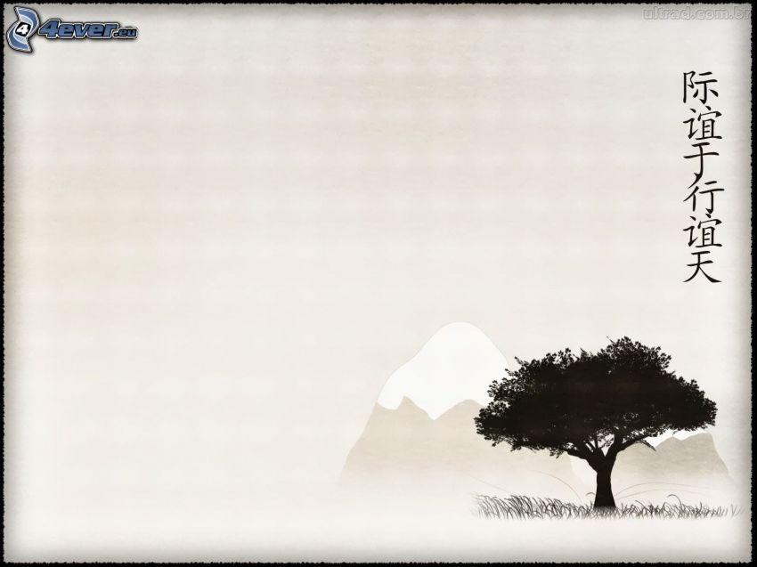 strom, čínske znaky