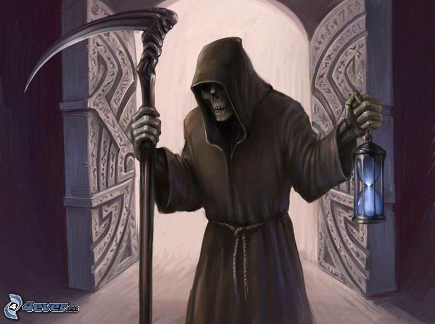 smrtka, kosa, brána