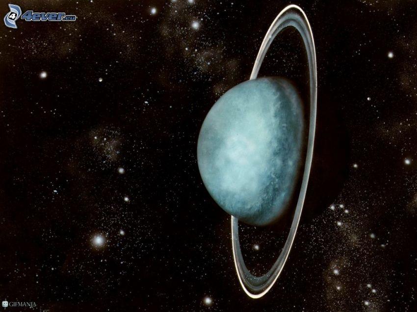 Urán, hviezdy