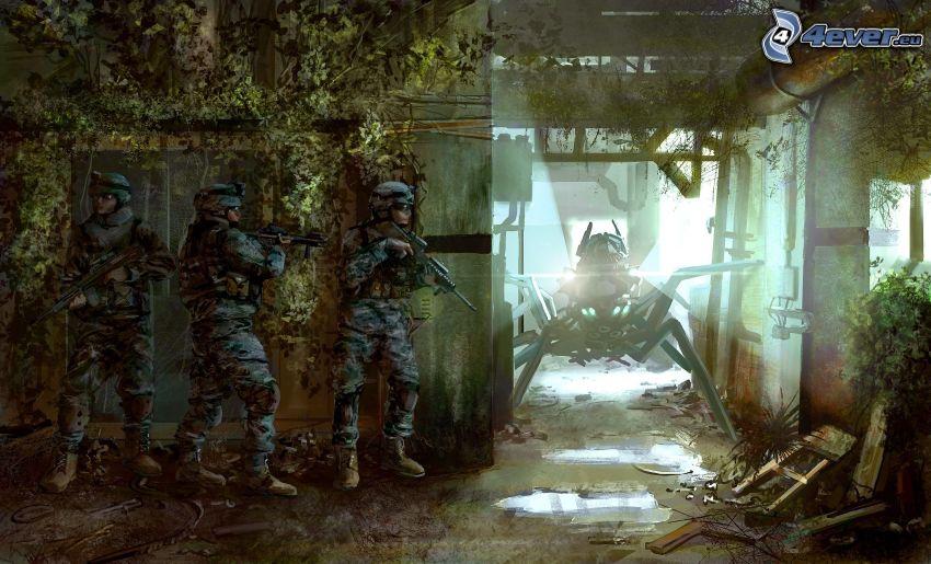 vojaci, obluda