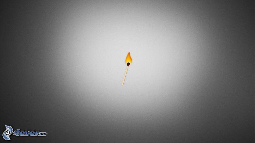zápalka, oheň
