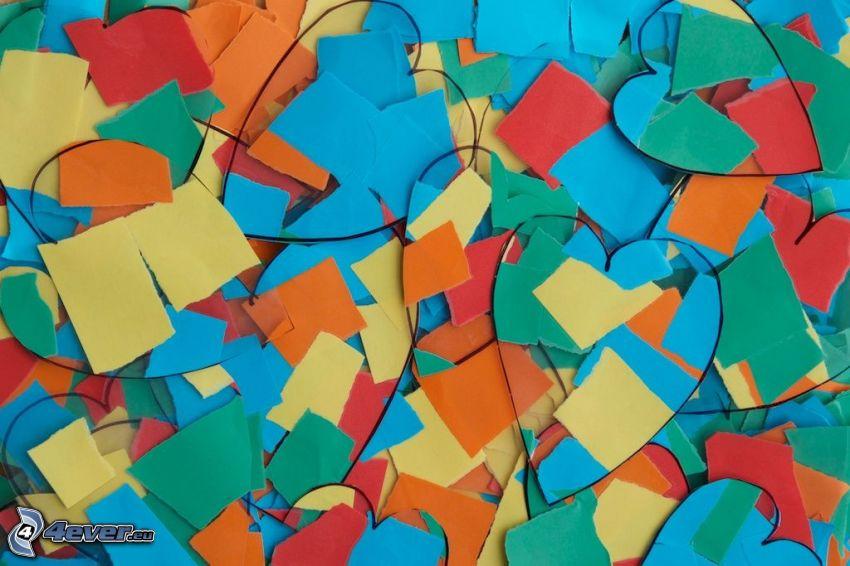 farebné srdiečka