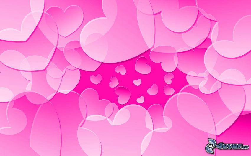 ružové srdiečka