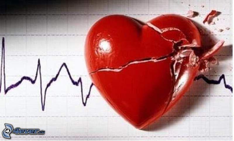 zlomené srdce, pulz