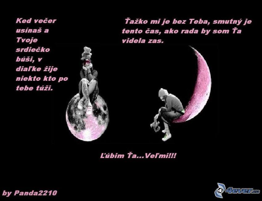 báseň, smútok, mesiac