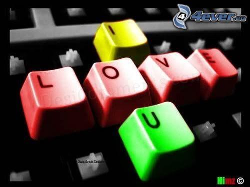 I love you, farby, klávesy