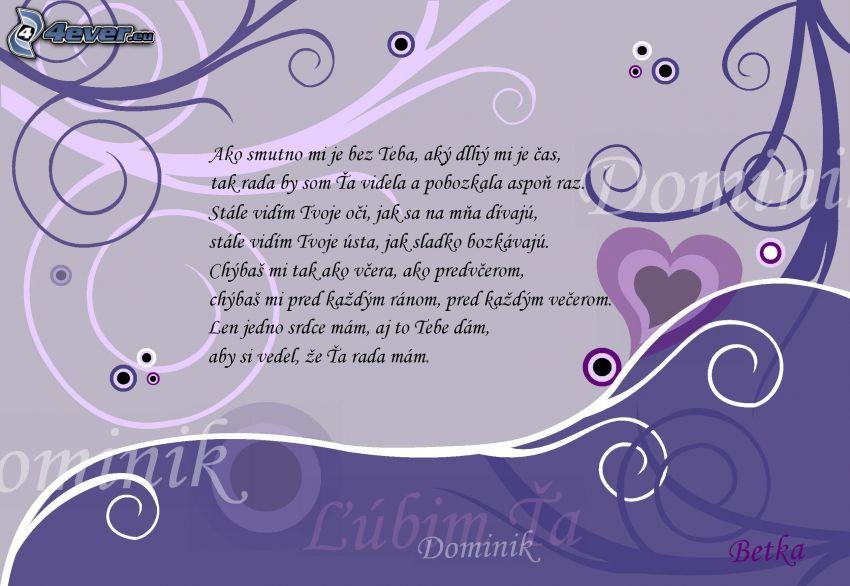ľúbim Ťa, text, smútok, ústa