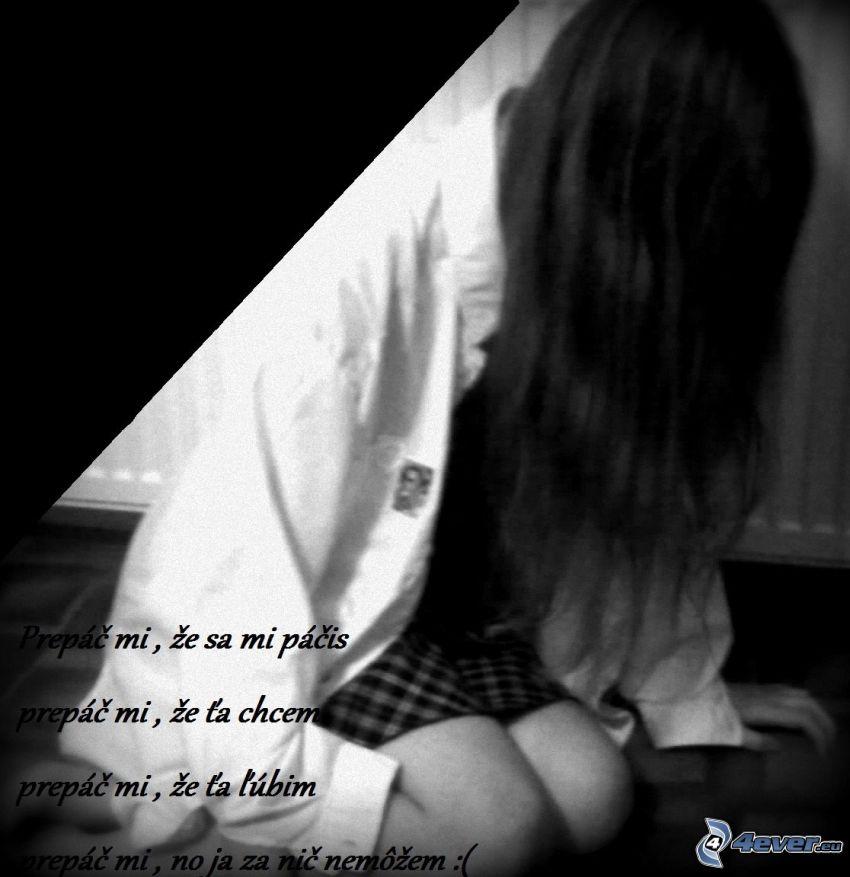 prepáč, smutné dievča