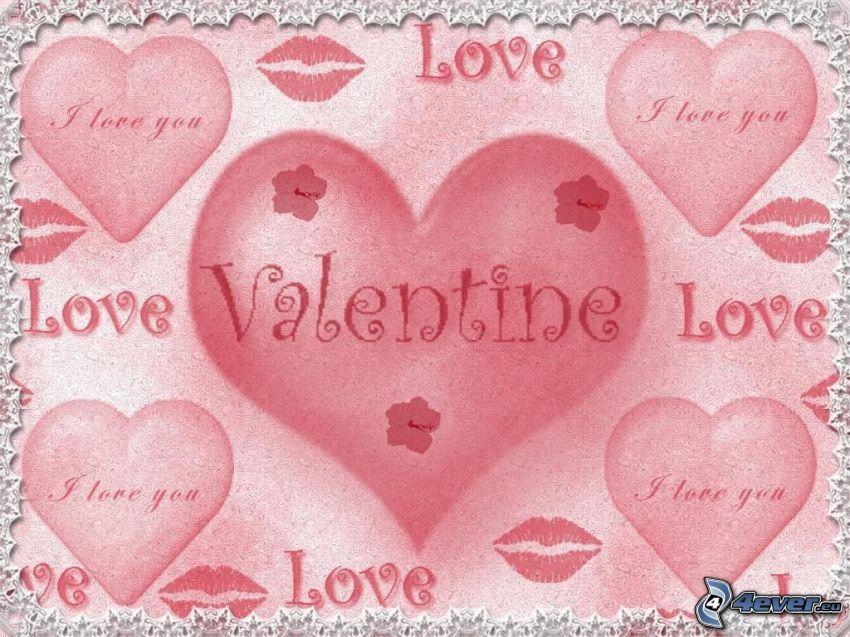 valentín, I love you, love, láska