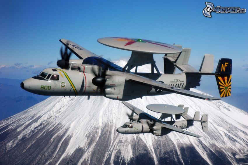 Grumman E-2 Hawkeye, zasnežená hora